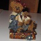 Boyds Bear Resin Bailey Bear with Suitcase