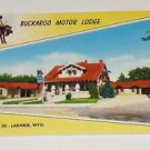 Vintage Postcard Buckaroo Motor Lodge Larami Wyoming