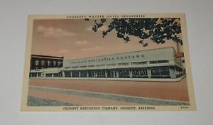 Vintage Postcard Crossett Mercantile Co Crossett Arkansas