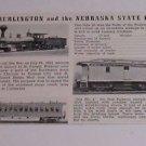 Vintage Postcard The Burlington & the Nebraska State Fair Rail  Cars