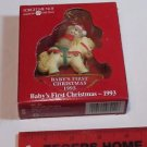 AMERICAN GREETINGS BABY GIRLS FIRST CHRISTMAS 1993 Bear on Pony/Horse
