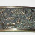 """KANSAS"" 125 AnniversarySolid Brass Mens Belt Buckle ~ 1861 ~ 1986 ~"