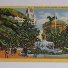 Vintage Postcard Fountain Pershing Square Los Angeles California