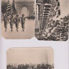 (3) Postcard  WW2 American Troops Artillery & Gen Leclerc Paris France Parade