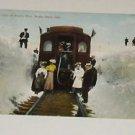 Vintage Postcard Snow Cuts Rollins Pass Moffat Road Colorado Passenger Train