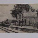 Vintage Postcard Noyen Sur Sarthe La Gare France Railway Station