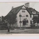 Vintage Postcard Fourth Ward School Ft Atkinson Wisconsin PM'D 1913