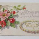 Vintage Postcard 1908 Many Happy Returns Of The Day Red Roses Bouquet