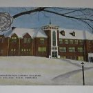 Vintage Postcard Library BLDG Dana College Blair Nebraska