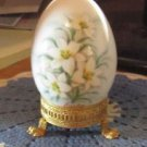 Easter 1972  Noritake Bone China Japan Easter Egg w/stand Easter Lily
