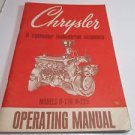 Chrysler 6 cylinder industrial engines H-170 H-225 Operating Manual