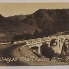 Vintage Postcard Old Oregon Trail Blue MTS Oregon
