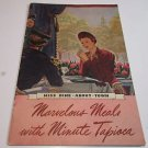Marvelous Meals with Minute Tapioca, recipe book/booklet, 1938