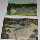 (2) Vtg Postcard Dam & Lake at Evergreen in Bear Creek Cannon Denver Mt Parks Co