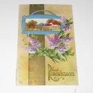 """Vintage Postcard """"Fond Remembrances"""" Lilacs & Rural Scene PM'd 1912"""