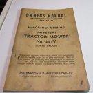 Vintage McCormick Deering Harvester No 25-V Tractor Mower Manual