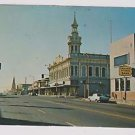 Postcard Red Bluff California Main Street Cone Kimball Clock Tower 1972
