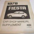 FORD FIESTA Manual Supplement & FIESTA Manual Update 1978