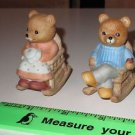 Pair of Homco bears in Rocking Chairs Mother & Father