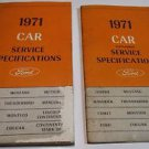 1971 FORD Car Service Specifications -W/ Supplement