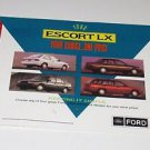 FORD   1993 ESCORT Advertising Card