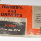 GMC Trucks 1969  Owners and Drivers Manual Models 1500 thru 3500