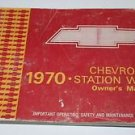 "General Motors ""GM"" Chevrolet Station Wagon Owners Guide ~ Manual ~ 1970"