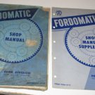 Ford Fordomatic Transmission Shop Manual 1950 & Supplement