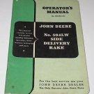 1950 JOHN DEERE TRACTOR NO 594 LW SIDE DELIVERY RAKES OWNER OPERATORS MANUAL