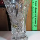 European Collection Glass Vase 24% Lead Crystal West Germany DOVE ENGRAVING