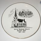 Christ Lutheran Church Norfolk Nebraska Commemorative Plate 1871~1971