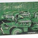 1968 Chevrolet Owners Guide Manual Original