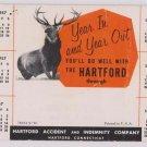 "Blotter Hartford Insurance 1957 Deer Stag ""Monarch Of The Glen"""