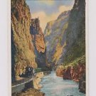 Postcard Denver & Rio Grande Western RR Royal Gorge Grand Canyon Highest Bridge