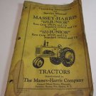 MASSEY HARRIS SERVICE MANUAL OPERATING INSTRUCTIONS 101 102 JUNIOR TRACTORS
