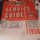 Blue Streak Service GuideTune Up Specs Ignition Parts Guide asssorted years