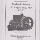 Fairbanks Morse Z 3HP Style C Instructions 2737A