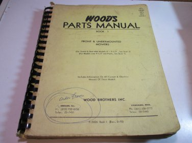 woods parts manual book 1 front & undermounted mowers F-5026