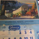 Co-Operative Produce Association David City Nebraska Calendar 1947