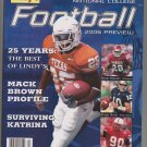 lindy's national college football 2006 preview magazine Mack Brown Profile