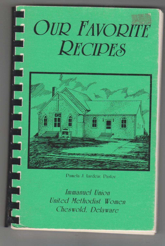 Immanuel Union United Methodist Women Cheswold Delaware Cookbook
