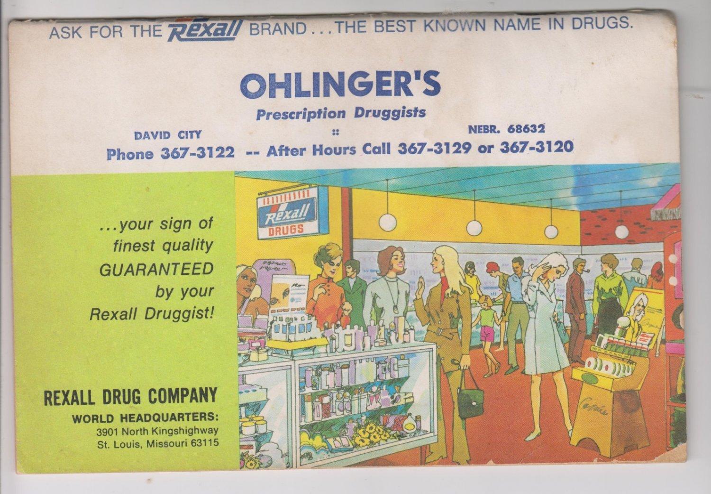 Rexall 1975 Family Almanac Ohlinger Druggists David City Nebraska