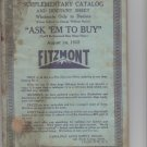 Fitzmont 1922 Auto Supply Catalog Supplement to No 5