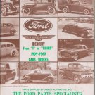 THOSE FABULOUS FORDS 1973 PARTS MANUAL 1909-1960