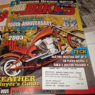 HOT ROD BIKES Magazine January 2003 Harley's 100th Anniversary Party- Big Dogs