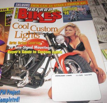 HOT ROD BIKES Magazine January 1999 Hollister 98- Harley Heritage Conversion