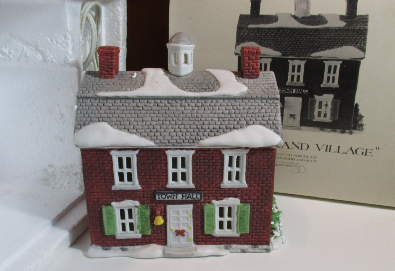 department 56 new england village brick town hall