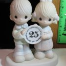 "PRECIOUS MOMENTS FIGURINE ""GOD BLESS OUR YEARS TOGETHER"" 25th ANNIVERSARY. E2857"