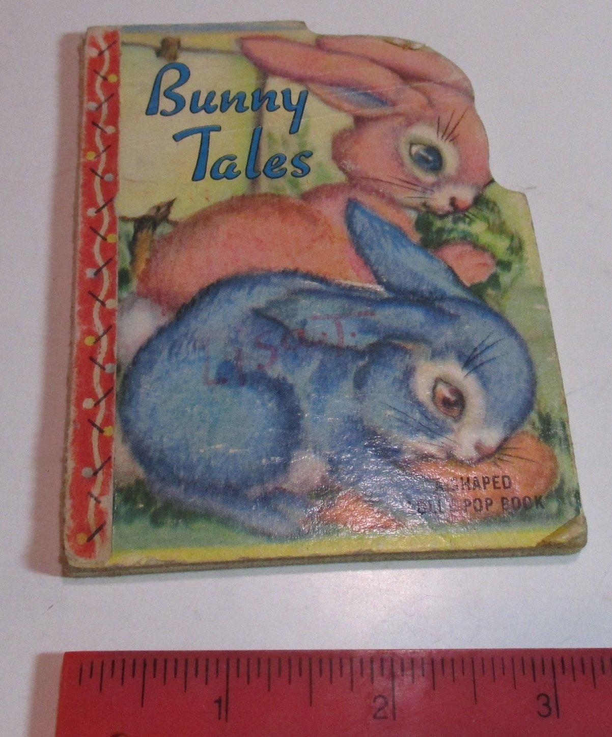 Bunny Tales. A Shaped Lolly Pop Book. Samuel Lowe Co., Kenosha, Wisconsin  1949