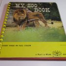 My Zoo Book Platt & Munk Star Board Book 1968